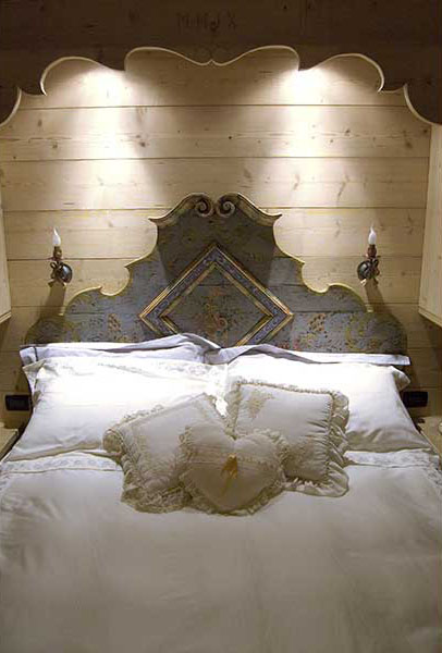 Hand decorated Tyrolean headboard