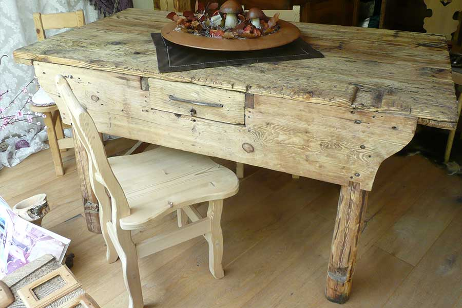 Original antique larch table