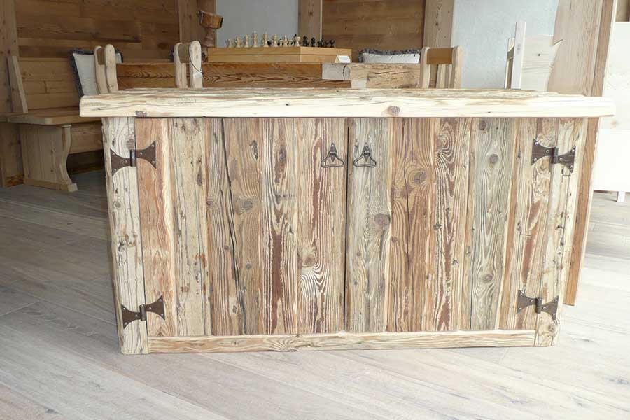 Agner chest in old wood