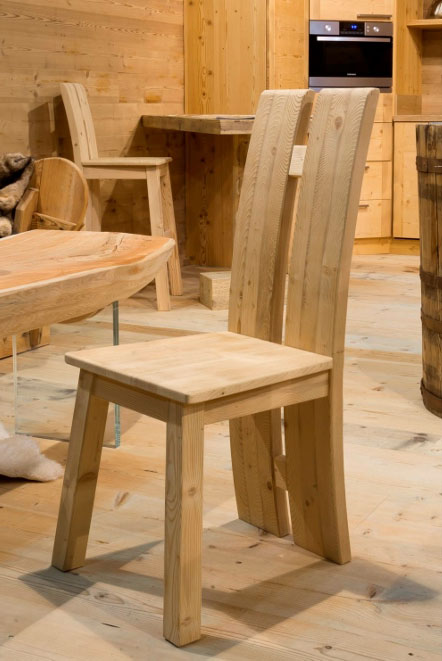 Cansiglio handcrafted chair in spruce wood
