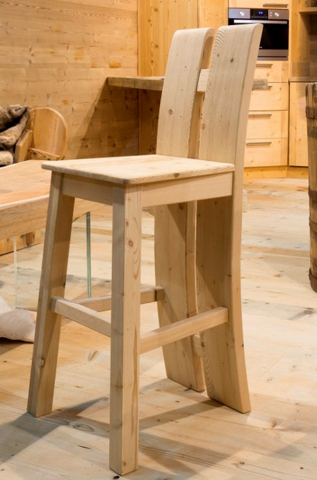 Cansiglio wooden stool